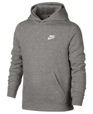 Nike Club Fleece Hoodie, Boys 8-20 - Gray M