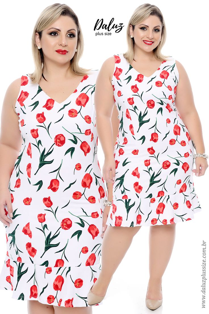 Vestido Plus Size - Alto Verão 2018 - www.daluzplussize.com.br
