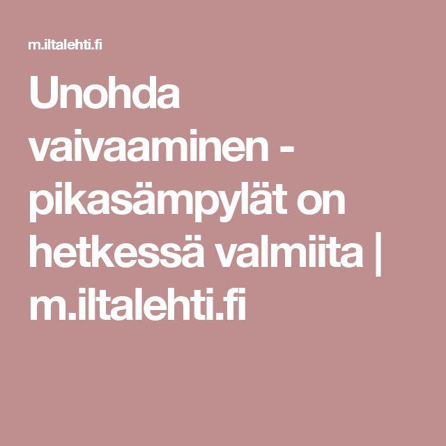 Unohda vaivaaminen - pikasämpylät on hetkessä valmiita | m.iltalehti.fi