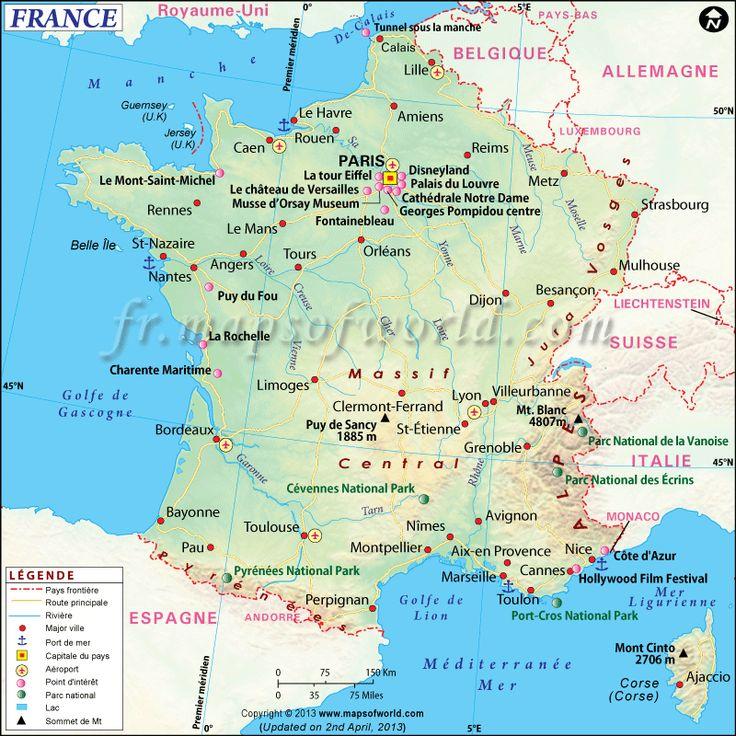 Carte de #France