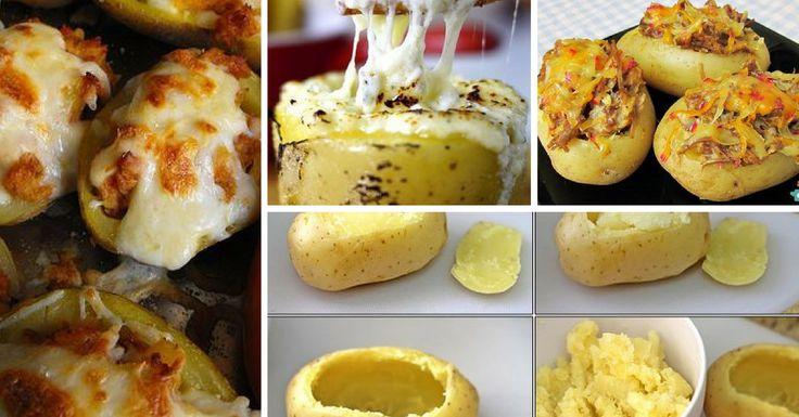 Receita de Batatas Assadas Recheadas - https://topreceitasfaceis.com/receita-batatas-assadas-recheadas/