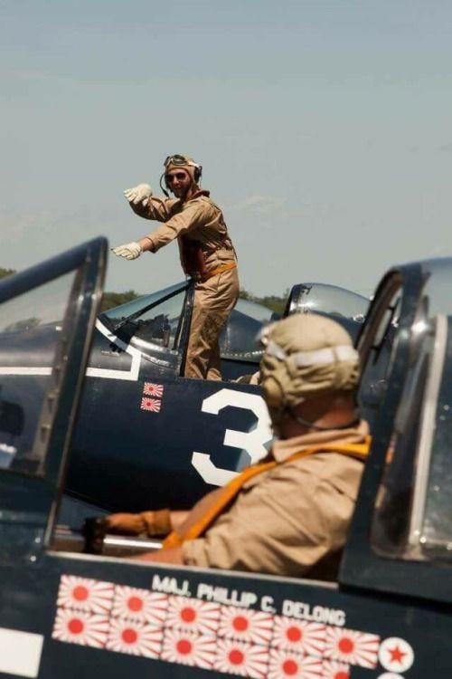 Corsair pilot showing how it's done.....