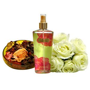 Impress your dearest Mom with this exclusively crafted hamper. It includes: Potpourri in a bowl. Size of bowl: 6 x 2 inches. Victoria's secret Hello Darling perfume. Volume: 250 ml. Bunch of beautiful 7 artificial roses.  Rs 2249/- http://www.tajonline.com/mothers-day-gifts/product/md2112/darling-perfume-combo/?aff=pint2014/