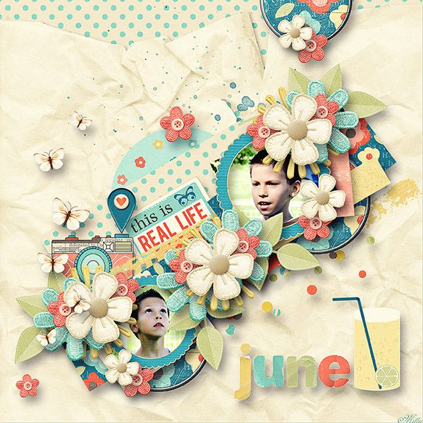 Capturing Life: June Designs by Blagovesta template Lovely Day Part8 by Eudora Designs