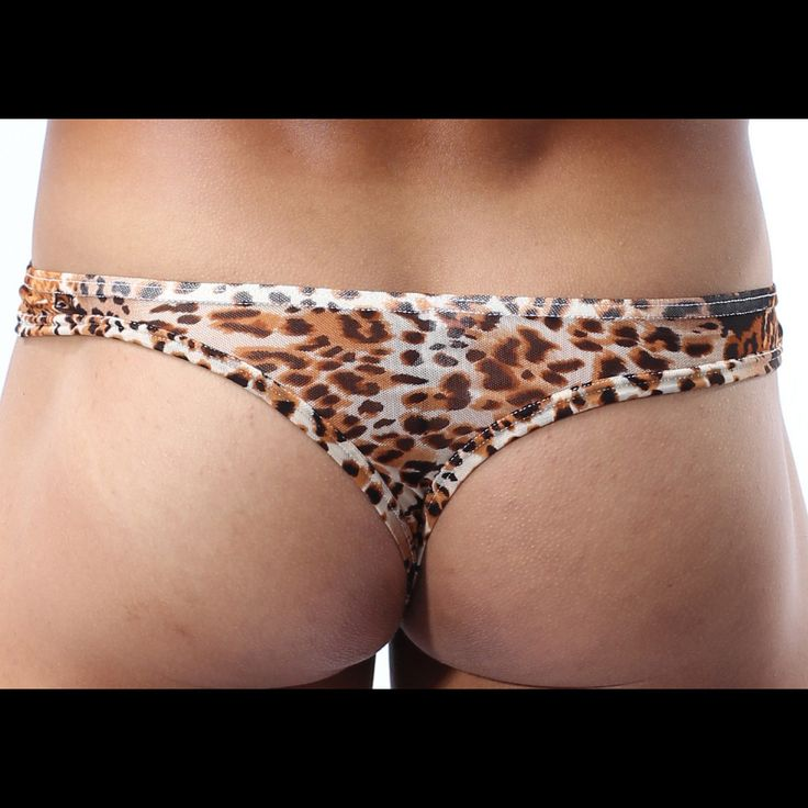 Sexy wild animal print thong by Cockcon.