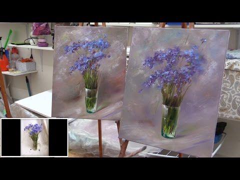 Работа маслом по фактурной акриловой пасте. Process of creating oil painting from Oleg Buiko. - YouTube
