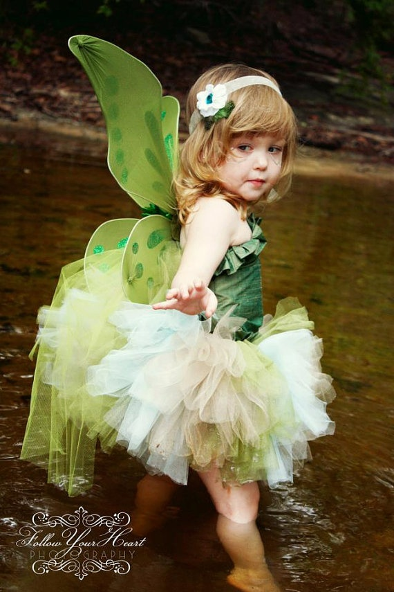 Toddler girls fairy costume by bellabuttonsbowtique on Etsy, $65.00