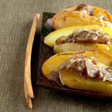 Aardappel in de oven met kastanjechampignons