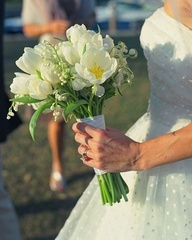 Tulip Wedding Bouquets: Tulip Wedding, The Bride, Baby Breath, Classic White, White Bouquets, White Wedding Bouquets, Tulip Bouquet, Flowers, White Tulip