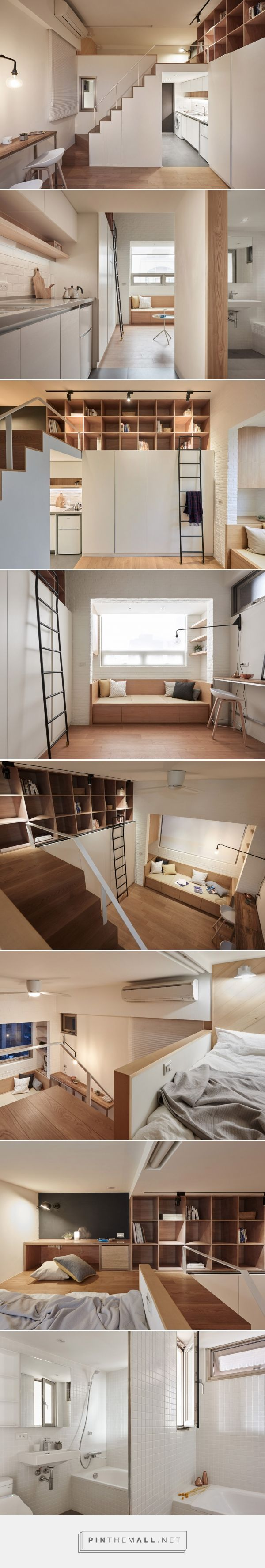Bedroom tiny home plans on wheels furthermore romeo 500 sq ft log - Like The Ladder And Cubbies In Front Of The Cupboards