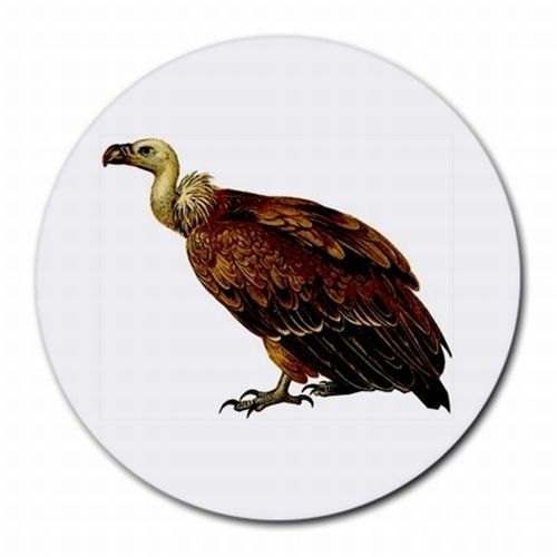 Vulture Bird Art Round Computer Mouse Pad
