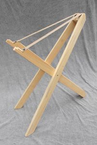 hammered dulcimer scissors stand