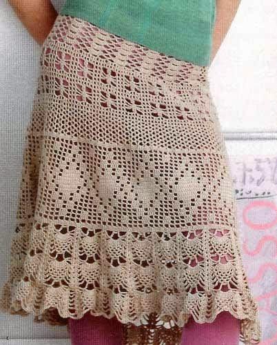 Tecendo Artes em Crochet: Saias Lindas e com Gráficos!