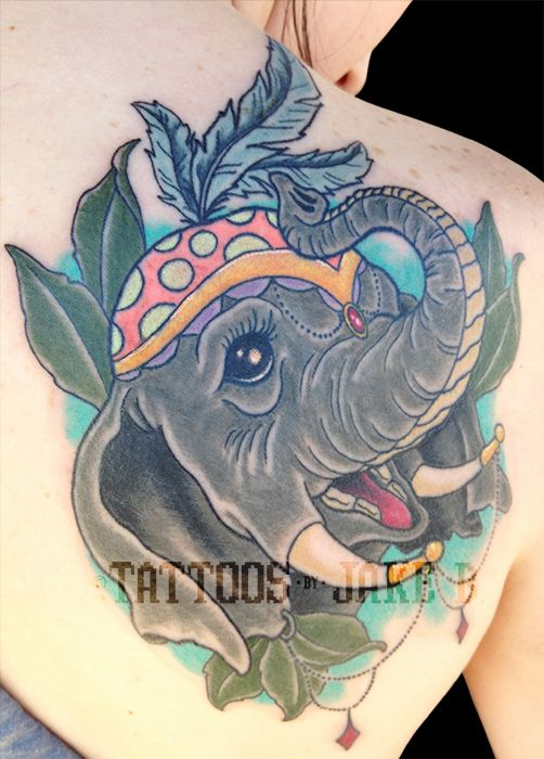 Circus Elephant tattoo by Jake B