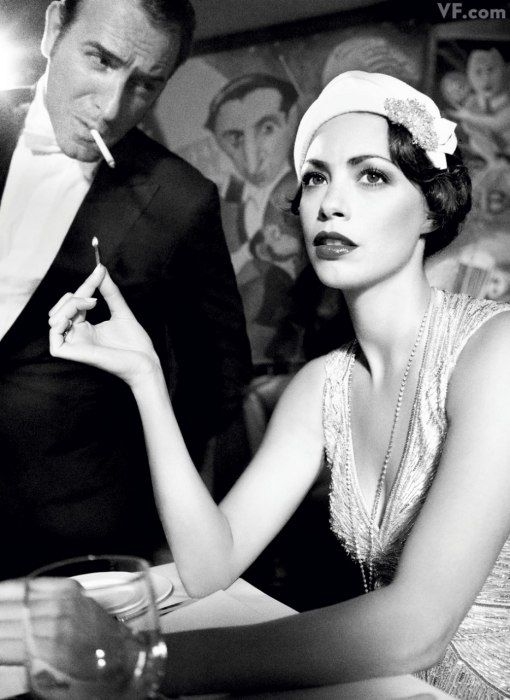 Jean Dujardin & Bérénice Bejo (Vanity Fair 2012 Hollywood portfolio, photographed by Tom Munro)