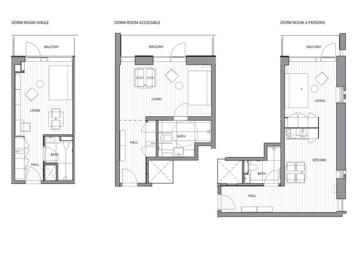 Student Housing,Dorm_ Room Plan