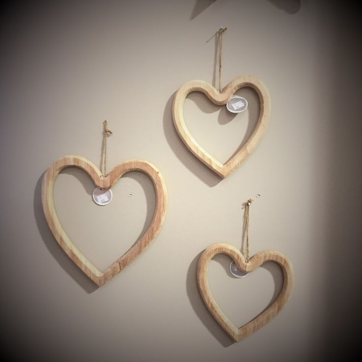 Wooden Hearts are a beautiful addition to your Christmas decor.  These solid hearts can be used as a wreath or hung decoratively for a less traditional styled room.