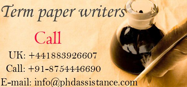 We provide term paper writing services for all the disciplines and to students irrespective of their location and institutes. Our experts are committed to deliver all kind of academic help as per the requirement. Any more information you want to induce in context to services, consult us.