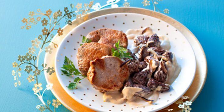 Médaillons de veau aux morilles et fève de tonka Testé et approuvé, fève tonka remplacé par poivre sishuan JP