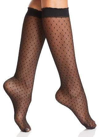 a37cf1575eb Fogal Swiss-Dot Knee-High Socks Dot Texture