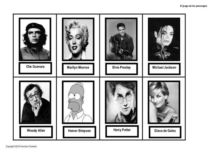El juego de los personajes by laclasedeele VT via slideshare