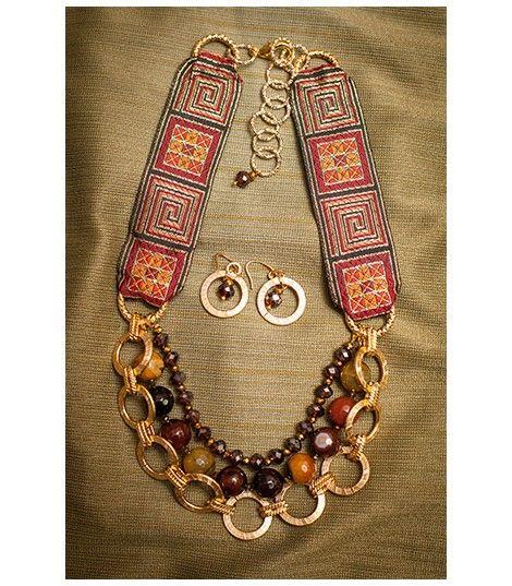 Collar Tribal  Agatha Terracota