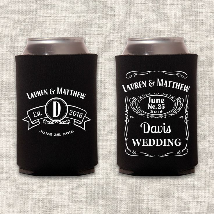 Cheap wedding koozies personalized