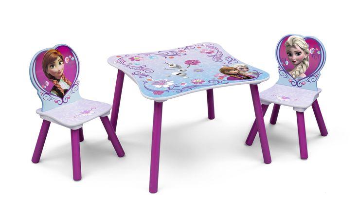 Dětský jídelní stůl s židlemi Frozen Ledové království Ana a Elsa