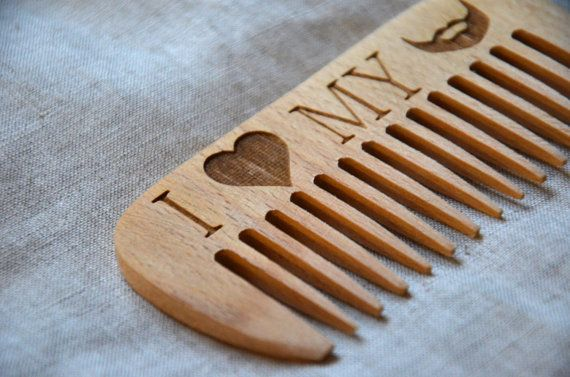 Personalized wooden comb. Engraved comb. For men, for him. I love my beard. Beard comb, moustache comb, hair comb. Idea for gift.Dad gift