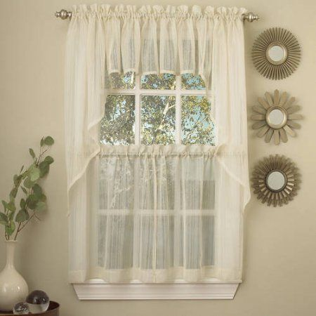 Curtains Ideas 36 inch cafe curtains : 17 Best ideas about Kitchen Curtain Sets on Pinterest | Sunroom ...
