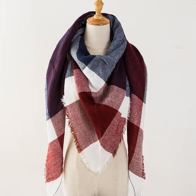 Checkered Cashmere Scarves - Perfect for Winter!