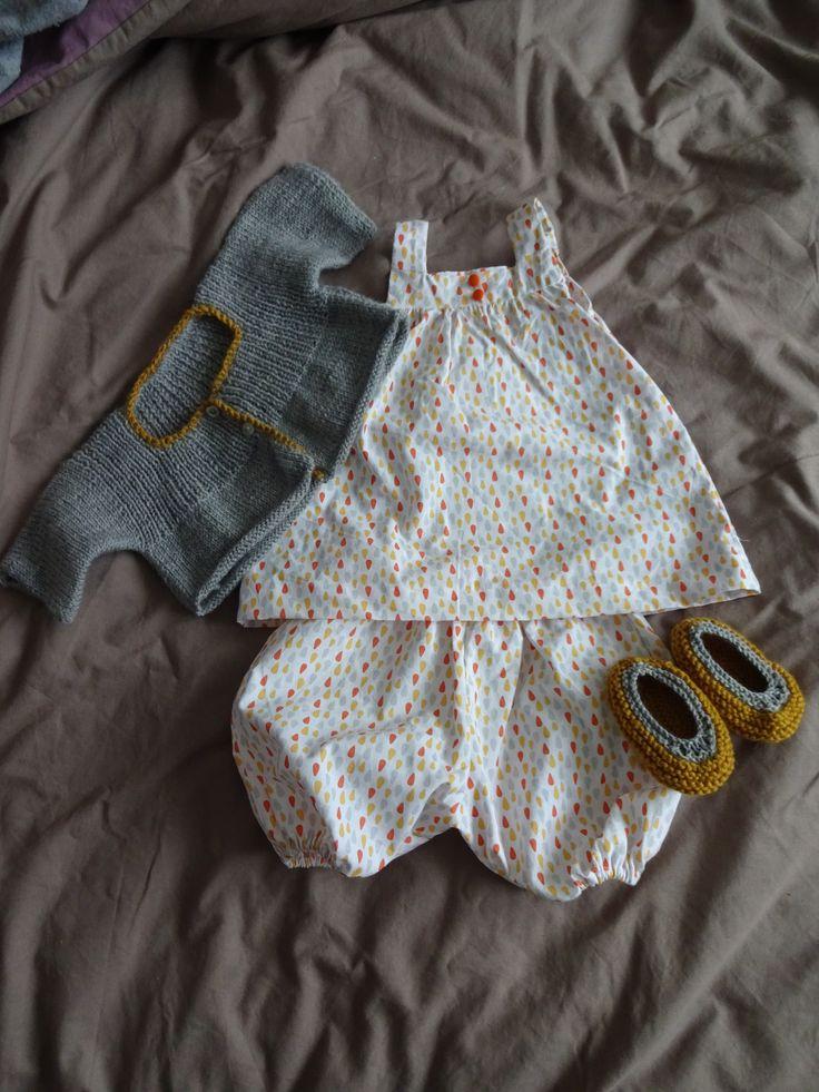 Une layette fleurie pour petite fille, Marie Claire Idées N°102