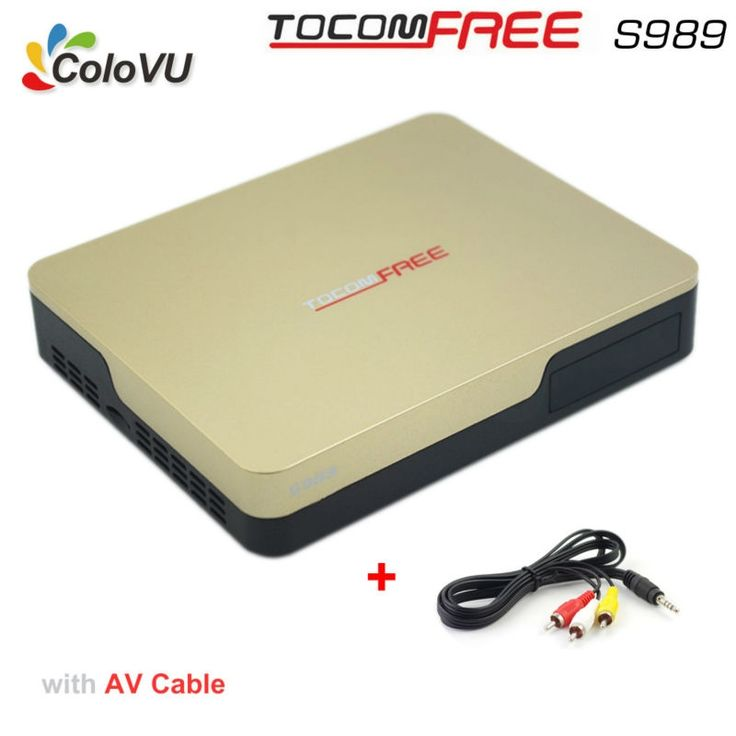 99.99$  Buy here - http://ali2p1.worldwells.pw/go.php?t=32770053726 - Satellite TV Receiver TocomFree S989 + AV Cable with Free Free IKS SKS IPTV TV Box for Brazil / Chile / Peru / South America 99.99$