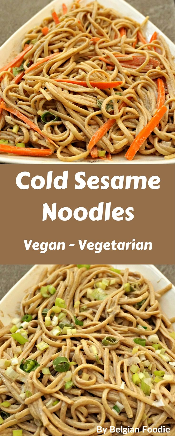 Tasty Healthy Cold Sesame Noodles ready in about 30 minutes!