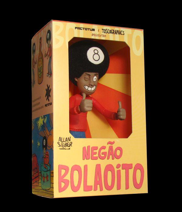 Art Toy-Negão Bola Oito by Estudio FACTOTUM , via Behance