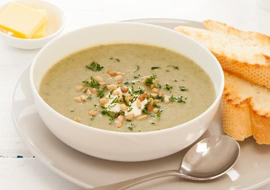 Broccoli, Bacon and Pine Nut Soup Recipe - Quick and easy at countdown.co.nz