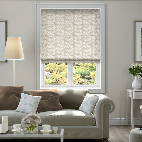 Lucie Neutral Roman Blind from Blinds 2go