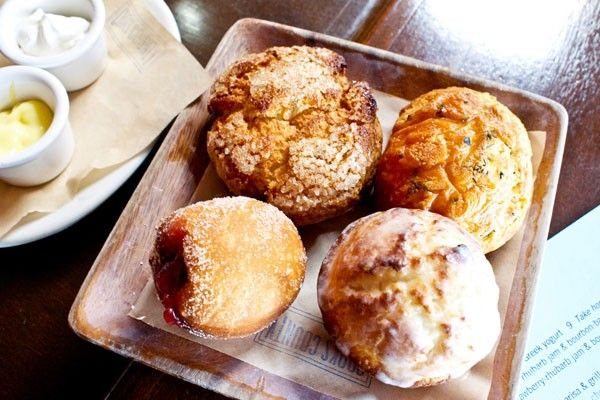 L.A. Desserts To Satisfy That Sweet Tooth  -  The Pastry Basket at Cooks County, $14  Why choose just one pastry when you can sample four? This quad is a beaming showcase of Cooks County's best, and will satiate both sweet and savory cravings. Not in the mood for a jelly donut? No worries, give that one to a friend and keep the ginger scone and cheesy biscuit for yourself. Cooks County, 8009 Beverly Boulevard (between Edinburgh and Laurel avenues) 323-653-8009.