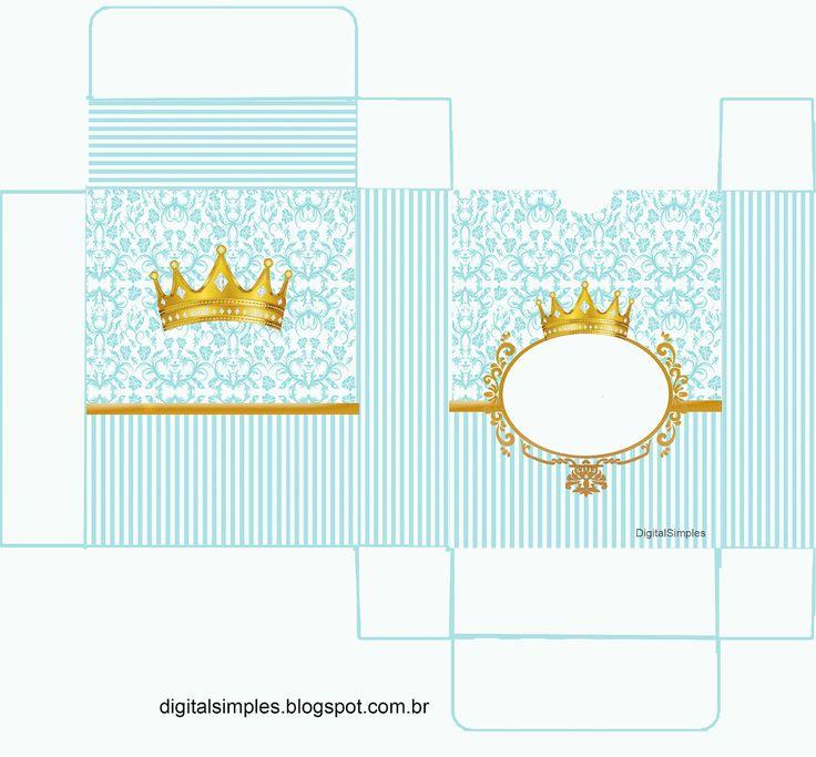 "Kit Personalizado Tema ""Coroa Azul Menino"" para Imprimir ..."