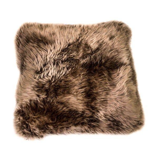 Sheep Skin Pillow cover 15x15 in | Fur