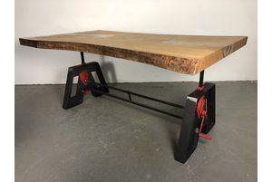 Esstisch Höhenverstellbar Eiche Massiv Epoxid Tischplatte Unikat