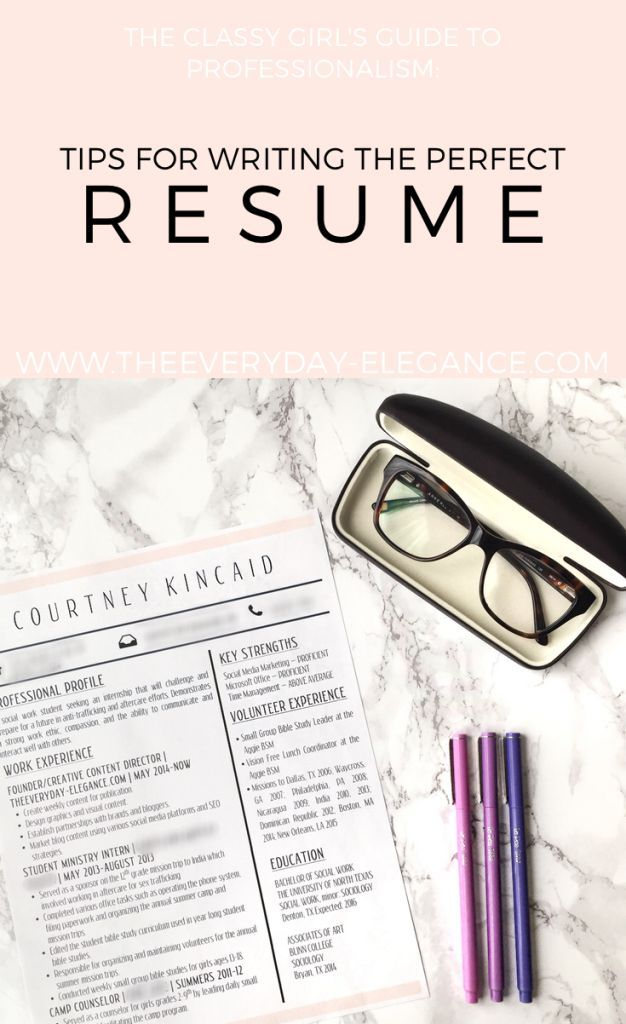 168 best RESUMES images on Pinterest Resume, Career advice and - making the perfect resume