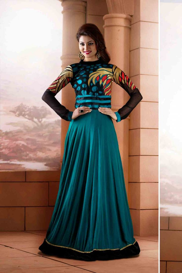 Go Glamorous with Urvashi Rautela -Blue and Black Faux Georgette Anarkali Suit Shop now  http://zohraa.com/blue-faux-georgette-anarkali-suit-z1458p2… sku : 56366 Offer Price Rs. 2,849  ‪#‎anarkalisuits‬ ‪#‎anarkalisonline‬ ‪#‎suits‬ ‪#‎suitsonline‬ ‪#‎bollywood‬ ‪#‎urvashi‬