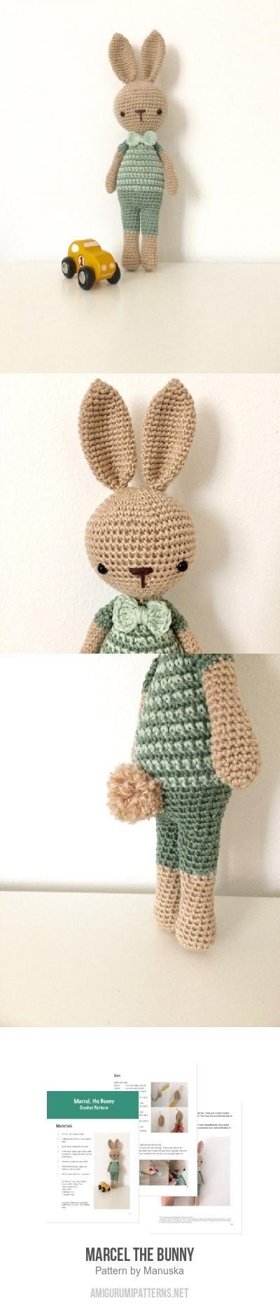 Marcel The Bunny Amigurumi Pattern