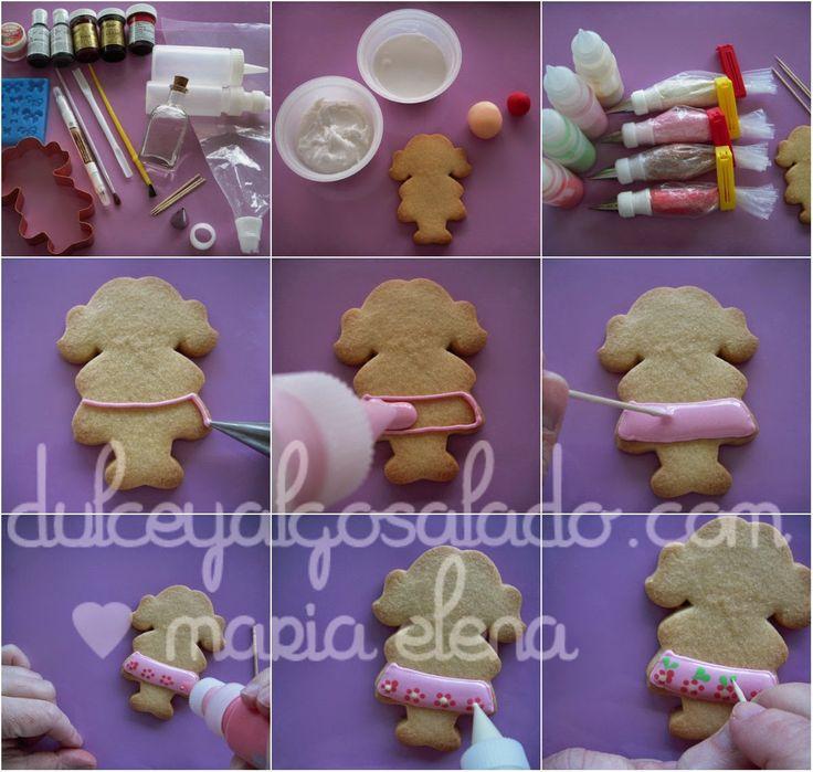 dulce y algo salado-cursos de galletas decoradas: De nuevo por aqui!!!! y paso a paso niña.