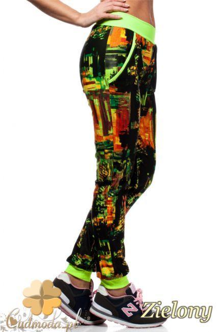 Nowoczesne legginsy ze wzorem w miasto.  #cudmoda #moda #ubrania #odzież #clothes #leggings #leginsy #hosen #pants