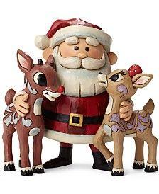 Jim Shore Santa Hugging Rudolph & Clarice Collectible Figurine