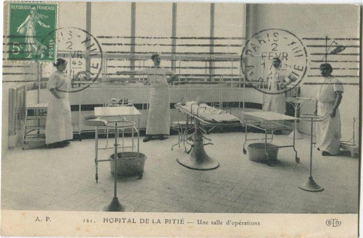 75013 Paris Hopital DE LA Pitie Salpetriere Salle Opérations TOP | eBay