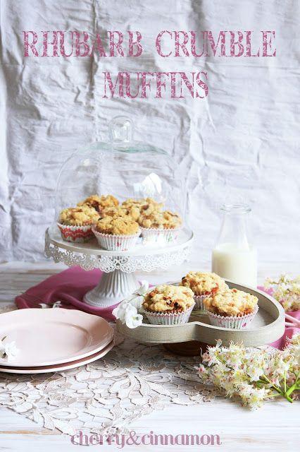 cherry&cinnamon: Rabarbarowe muffiny z kruszonką