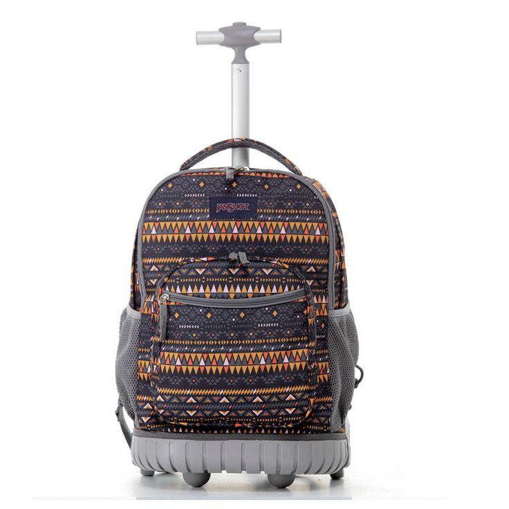 TILAMI Luggage 18 Inch Rolling Backpack Wheeled Book Bag Kids Children Trolley School Bag Laptop Bag Travel Backpack for Girls